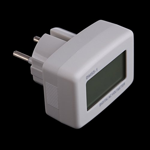 Demiawaking Blaues LCD Volt Meter AC 80-300V Für 110V 120V 220V 230V 240V EU Style Plug