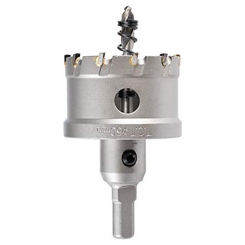 KATUR 50mm Hartmetallbestückter Zahnlochfräser, TCT-Bohrer-Lochsägen-Set für Edelstahl, Blech, Metall (50mm)