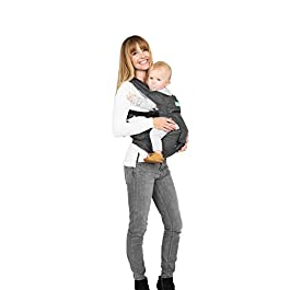 Moby Hip Seat and Baby Carrier – 2 in 1 Ergonomic Baby Carrier and Toddler Carrier – Baby Hip Seat That Can Be Worn 7 Different Ways – Child Carrier That Makes Baby Wearing Easy