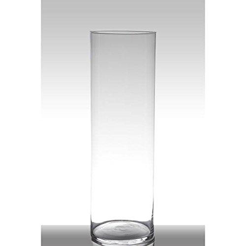Hakbijl Dekoglas, Vase Zylinder Luna H. 60cm D. 19cm transparent