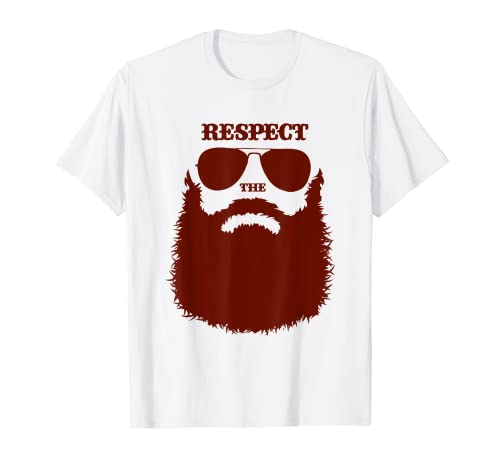 Respect the Beard Men Quote Beard Style Camiseta