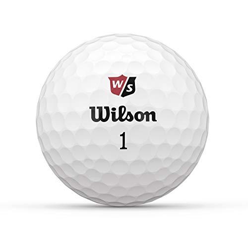 Wilson Staff Balles de Golf, Duo Soft, 12 Balles, Blanc,...