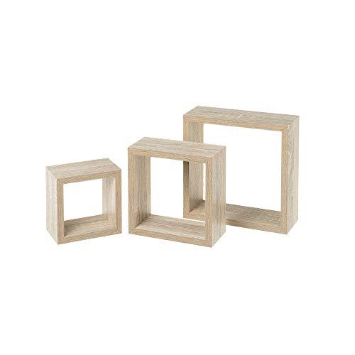 Set 3 Estante Cubo pequeños Madera MDF Beige nórdicos