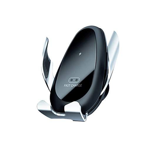 Autotelefoonhouder Infrarood automatische intelligente in de auto draadloze telefoon oplader auto bracket Telefoonhouder Voor alle andere mobiele telefoons (Color : Silver)
