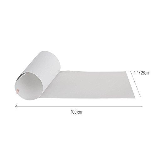 Rellik Griptape - Longboard trasparente, 28 x 100 cm