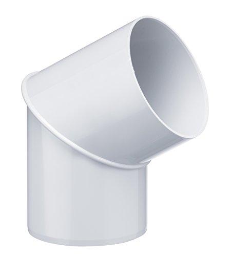 INEFA Rohrbogen, winkel für Fallrohr, 60 Grad Weiß DN 75 - Kunststoff, Fallrohrbogen, Winkel für Regenfallrorhr, Rohr Fallrohr - Verbinder, Zubehör, Rohrverbinder Regenrinnen