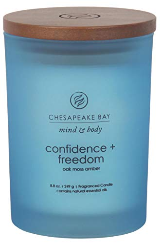 8.8oz Glass Jar Candle Confidence + Freedom - Mind & Body by Chesapeake Bay Candle