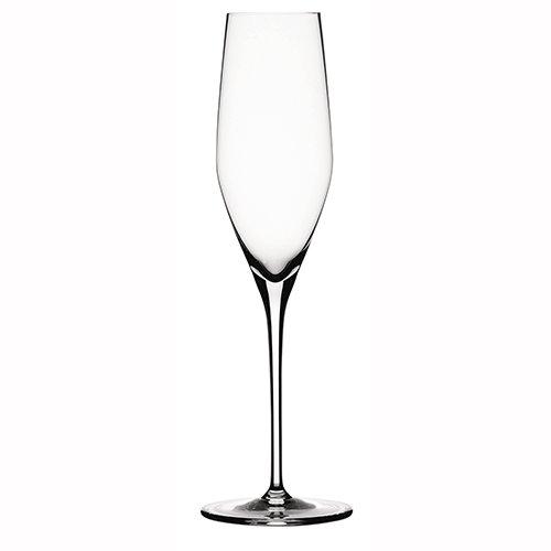 Spiegelau & Nachtmann, 4-teiliges Champagnerflöten-Set, Kristallglas, 190 ml, Authentis, 4400187