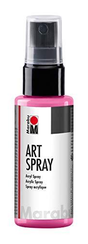 Marabu 12090005005 - Art Spray himbeere 50 ml, brillantes Acrylspray m. Pumpzerstäuber auf Wasserbasis, ideal z. Schablonieren auf Leinwand, Papier und Holz, schnell trocknend, lichtecht, wasserfest