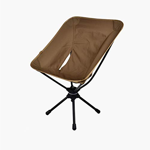 Jpan mart 野外折りたたみ椅子 チェア 超軽量ポータブル360度回転椅子7075航空アルミ合金を採用 キャンプ バーベキュー アウトドアチェア (Brown)