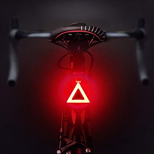 SICOFD LED Bodenleuchte Rücklicht Mit Mehrere Beleuchtungsmodi, USB Lade LED Blitz Heck Für Mountainbike Sattelstütze Aufladbarer Akku Beleuchtungsset Für Mehr Sichtbarkeit,B