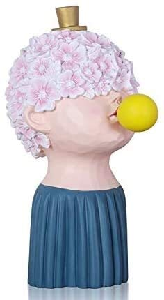 YANRUI Amantes Que soplan Burbujas niña Estatua carácter Resina Escultura artesanía Modelo decoración Sala de Estar gabinete de televisión decoración del hogar Accesorios Figurines (Color : B)
