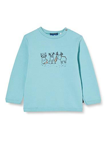 Sanetta Baby-Jungen Ice Blue Sweatshirt, blau, 056