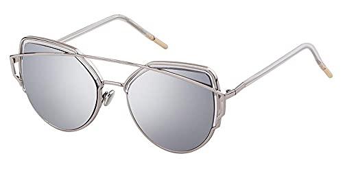 U/N Gafas de Sol de Moda Vintage para Mujer con Marco de Metal, Lentes de Tinte Rosa Transparente, Gafas de Sol para Mujer Sunny-6