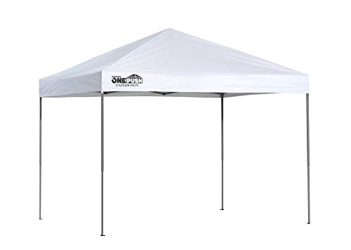 Quik Shade 8' x 10' Expedition 80 Square Feet of Shade One-Push Set-up Straight Leg Base Outdoor Pop-Up Canopy - White