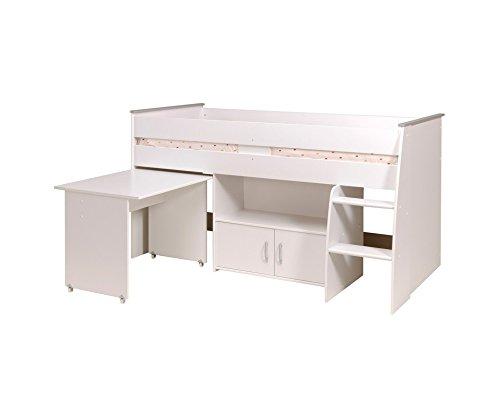 Parisot 2270Comb Set Möbel Kinderzimmer–Reverse Comb Weiß Megeve Holz