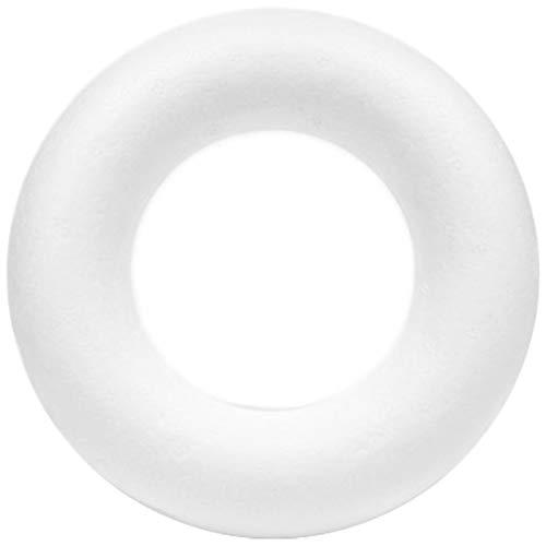 Netuno 10 Stück Styroporreifen Styroporring Halbring aus Styropor weiß 7 cm Durchmesser zum Gestalten von Oster- und Adventskränzen Dekorelementen