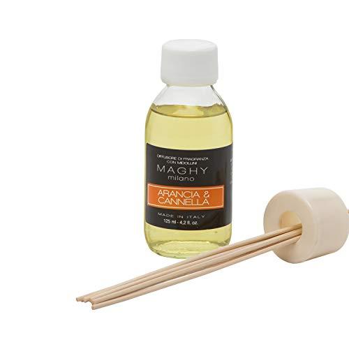 Profumatore Maghy per ambienti, da 125 ml, arancia e Cannella Arancia e Cannella