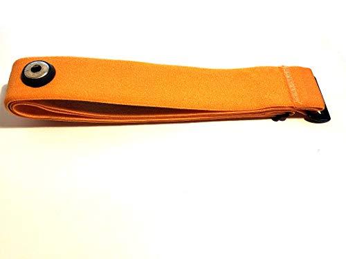 Sangle de poitrine Soft Strap Orange de rechange pour Garmin modèles Premium Sangle de poitrine de fréquence cardiaque, HRM Run Convient, M/XXL