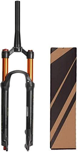 XLYYHZ Aleación de magnesio 26/27.5/29 Pulgadas Horquilla de suspensión MTB de Bicicleta, Horquilla de Aire Ultraligera XC Offroad Downhill Recorrido: 120 mm