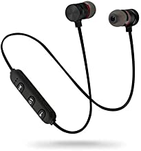Lowfe Wireless Bluetooth Headset Headphone for Calling Music with Magnetic Wireless Bluetooth Earphone Sports Stereo Jogger Running Gyming for All Android iOS Devices Multicolor