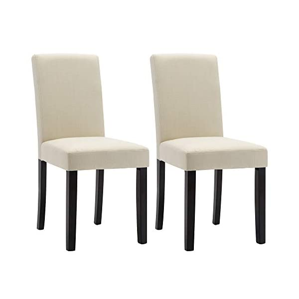 Dining Chairs Upholstered Padded Parsons Dining Room Chairs,Urban Style Kitchen Living...