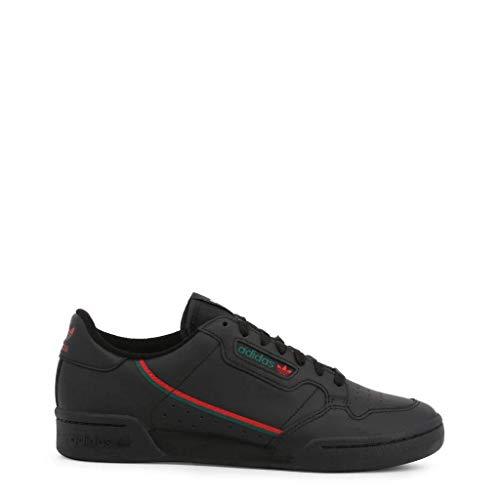 adidas Herren Continental 80 Sneaker, Core Black/Scarlet/Collegiate Green, 44 EU