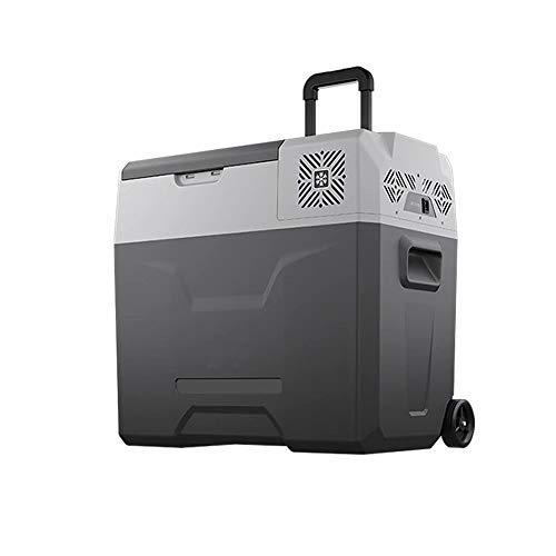 QCGZJCY Mini-Nevera portátil Compresor Nevera de Coche de 50L Congelador de Coche 12V/24V 220V Nevera automática con Control App