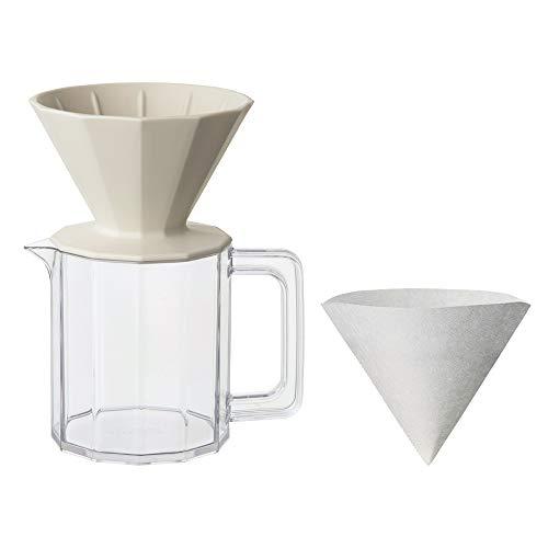 KINTO (キントー) コーヒー用品 ALFRESCO ブリューワージャグセット 4cups ベージュ 20732