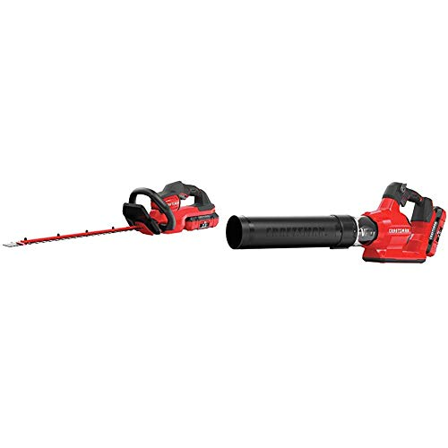 Lowest Price! CRAFTSMAN CMCHTS860E1 V60 24 Cordless Hedge Trimmer with CMCBL760E1 V60 Axial Blower