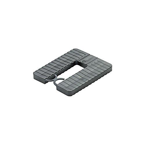 GLUSKE Euroklick Distanzplatte mit Sperrhaken 65 x 52,5 x 1 mm, weiß , 1000 Stück | Unterlegkeile - Distanzplättchen