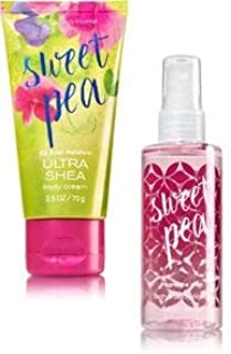 Bath Body Works Sweet Pea Travel Size Cream and Mist