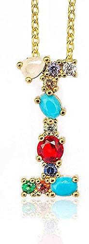 ZQMC Collar I - Exquisito Colgante de Collar con Letra Inicial DIY para Mujer con Nombre, Accesorios de joyería, Regalo para Novia