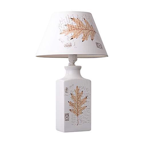 Lámparas de mesa de noche Lámpara de mesa de cerámica, Lámpara de mesita de noche, Diseño elegante, Cuerpo de lámpara de cerámica de alta temperatura (blanco) Lámparas de mesita de noche para dormitor
