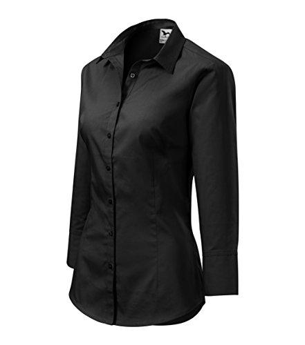 OwnDesigner by Adler Blusa 3/4 de Mujer - clásica, corte elegante - Color : Negro - Talla : L