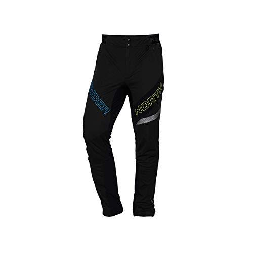 Northfinder - Pantaloni da sci da uomo Active Thermal Fleece RYSY Nero XL