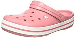 SPORTY, STYLISH AND COMFORTABLE: The Crocs Crocband Clogs feature reliable cushioned comfort, a sporty design, and a variety of energy-boosting colors and graphic designs, making them the Crocs women and men need Show your stripes LIGHTWEIGHT: These ...