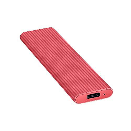 External Hard Drive1TB 2TB Portable External Ultra Slim Hard Drive Portable HDD Type C Hard Drive for Mac,PC(2TB Red)