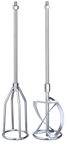 kwb by Einhell 2-tlg. Rührer-Set M14 Farb- und Mörtelrührer-Zubehör (2 Rührer, 58.5 cm Gesamtlänge, 120 mm Rührerdurchmesser, M14-Aufnahme)