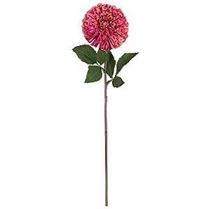 Vickerman Zinnia Stem Artificial-Flowers, 24″, Pink, 3 Piece