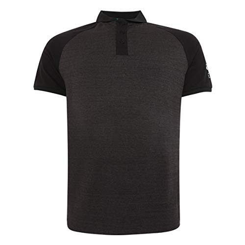FC Liverpool Block Raglan Polo Shirt (L, Charcoal)