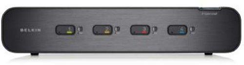 Belkin F1DN104FEA Advanced Secure Dual-Head DVI-I KVM Switch (4-Port Plus)