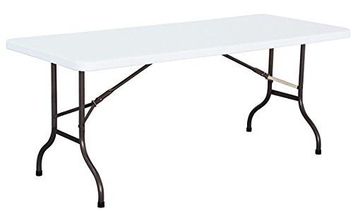 Table de Jardin avec Plateau en polypropylène Haute densité- A Usage Professionnel- Dim : H 74 x L 183 x P 78 cm