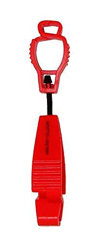 tee-uu CLIP Handschuhhalter (rot)