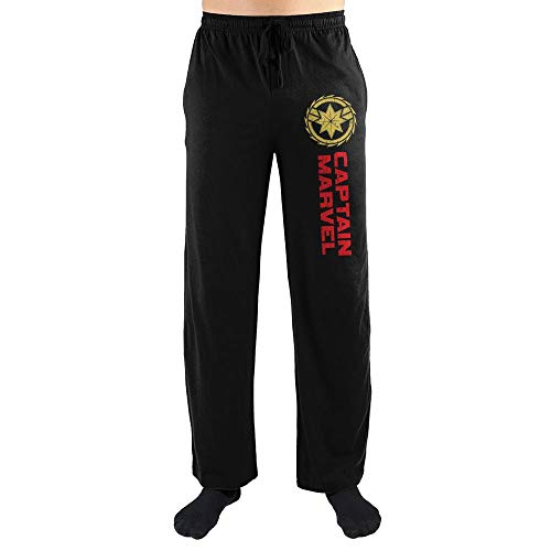 Marvel Clothing Captain Marvel Sleep Pajama Pants Pajamas-Large Black