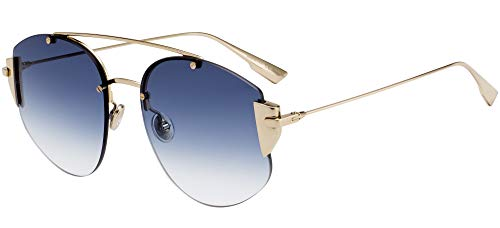 Dior Gafas de Sol STRONGER GOLD/BLUE SHADED 58/18/145 mujer