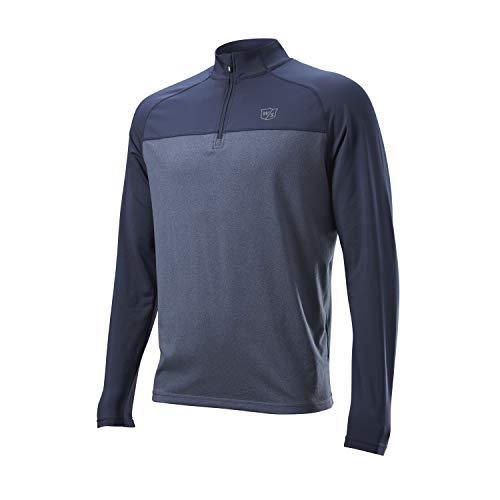 Wilson Thermal Tech Camiseta Deportiva térmica, Azul, LG Hombre