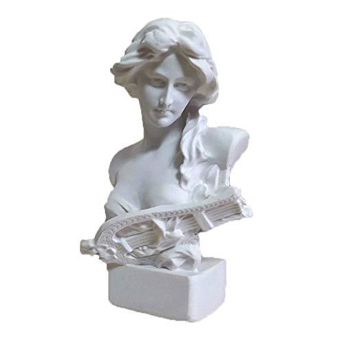 PET HOUND Estatua Escultura Decoración Figura Diosa Busto Escultura De Arte Resina Artesanías Decoraciones para El Hogar Mini Material De Arte De Estatua De Yeso