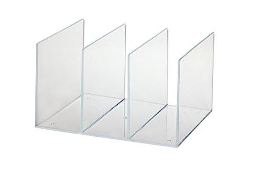 Maul Katalogsammler aus Acryl, 3 Fächer, 85 mm Fächerbreite, Transparent