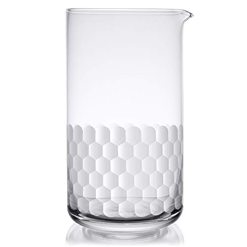 Cocktail Mixing Glass - Bar Mixer Pitcher for Stirred Drink - Seamless and Handcrafted of Crystal Glass, 24-ounce